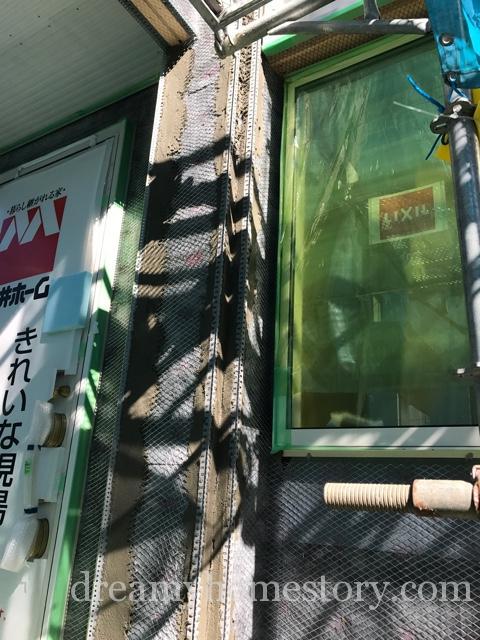 【外壁】着工96日目外壁にモルタルが塗られました